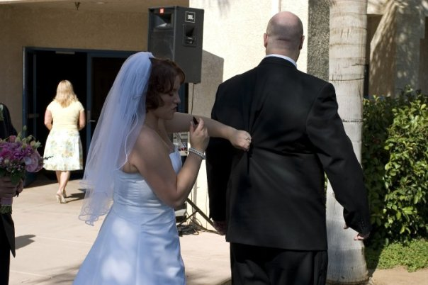 mike weight loss wedding